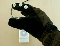 Snowboard Glove can Control your iPod