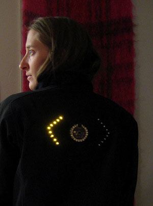 LED Cycling Jacket with signals