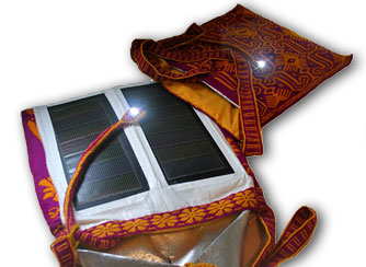 solar portable light bag
