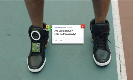 Google talking shoe