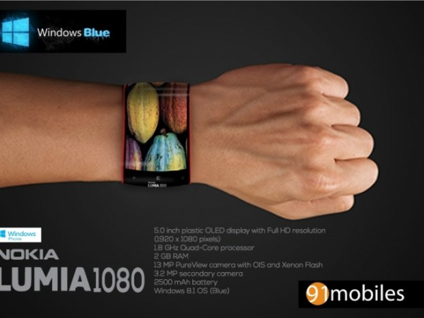 Nokia Lumia 1080 Concept Smart Watch is Also a Smartphone ...