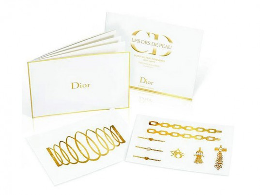 dior gold temporary tattoo 1
